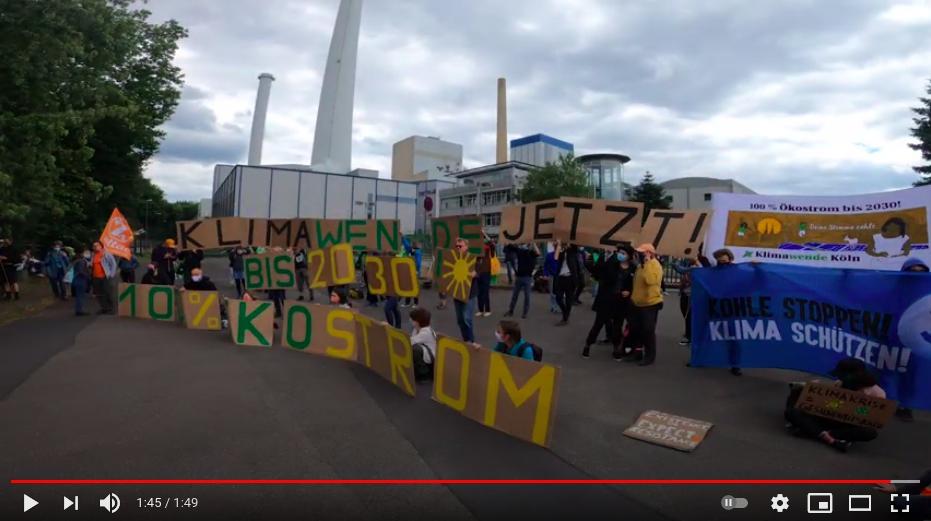 Fahrraddemo zum Kohlekraftwerk Merkenich - 7.6.2020