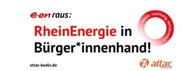 Eon raus: RheinEnergie in Bürgerhand