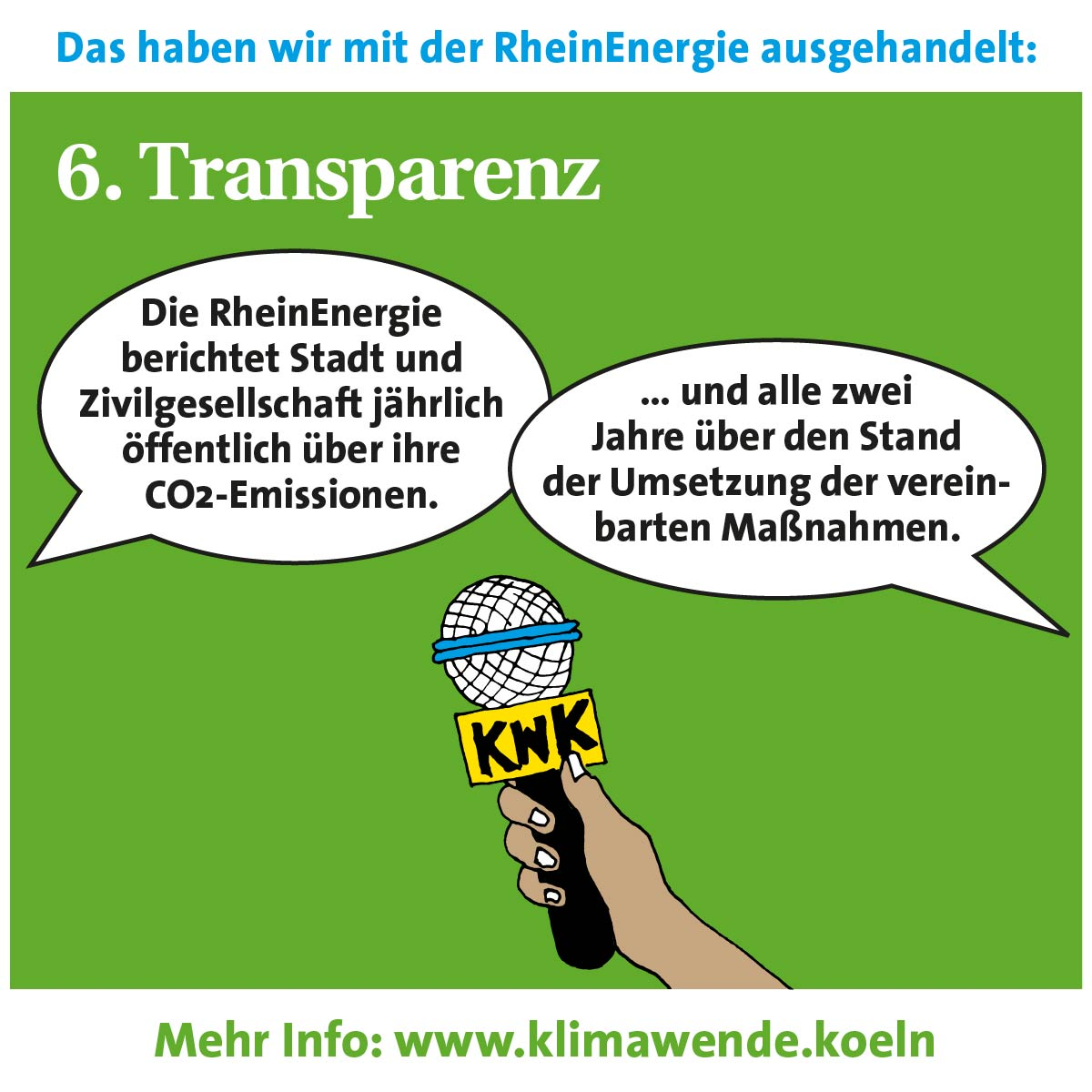 Kernpunkte: 6) Transparenz